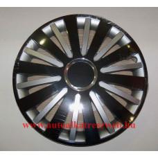 Dísztárcsa Falcon 14 collos fekete-ezüst garnitúra