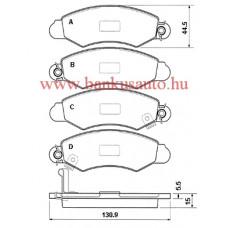 Fékbetét Suzuki Wagon R+ első /55810-83E00/